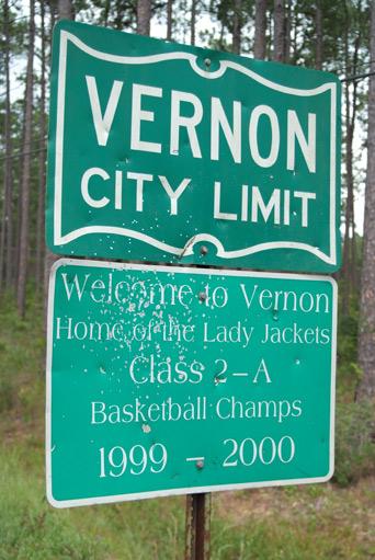 Vernon City Sign.